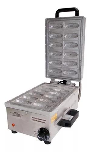 Máquina de mini crepe no palito 12 cavidades 9cm ad