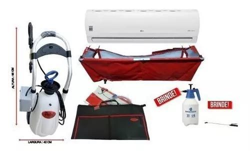 Máquina limpeza ar condicionado split + kit coletor comple