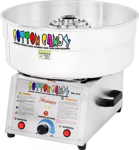 Máquina p/ fazer algodão doce cotton candy + kit grátis