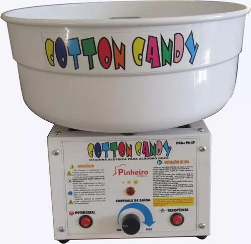 Máquina para algodão doce bivolt branca nova+ kit