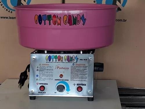 Máquina para algodão doce profissional bivolt + kit