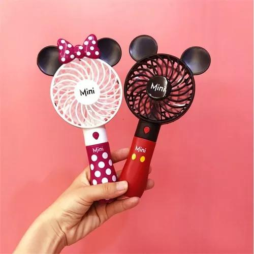 Portátil bonito ventilador usb mickey mini handheld