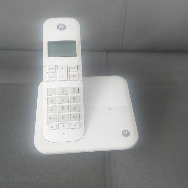 Telefone digital sem fio motorola c identificador de chamada
