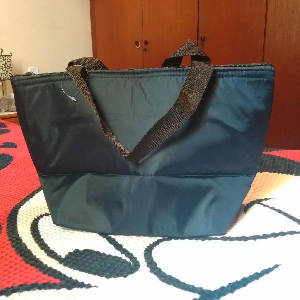 Bolsa termica azul marinho bolsa de marmita