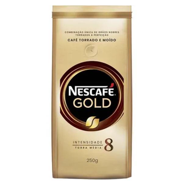 Café torrado e moído nescafé gold médio 250g