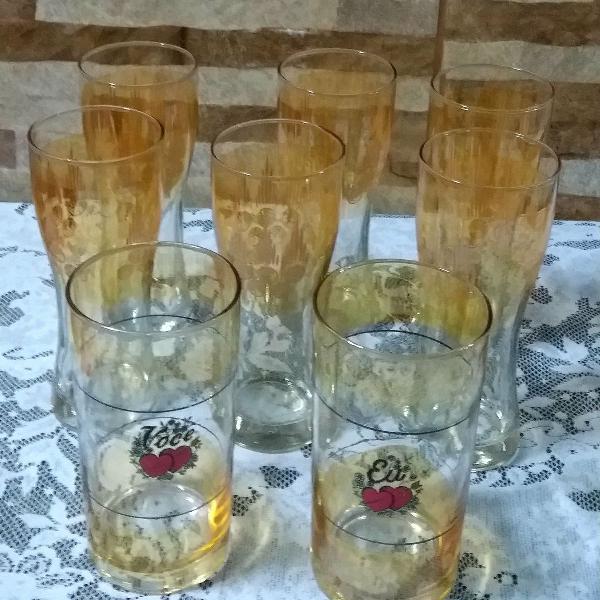 Jogo de copos lindos!