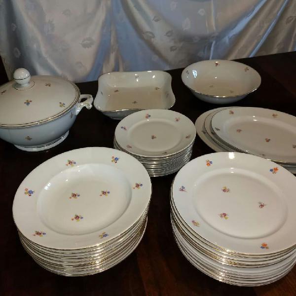 Jogo de jantar porcelana 39 pças - czechoslovakia