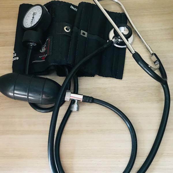 Kit estetoscopio + esfigmomanometro bic