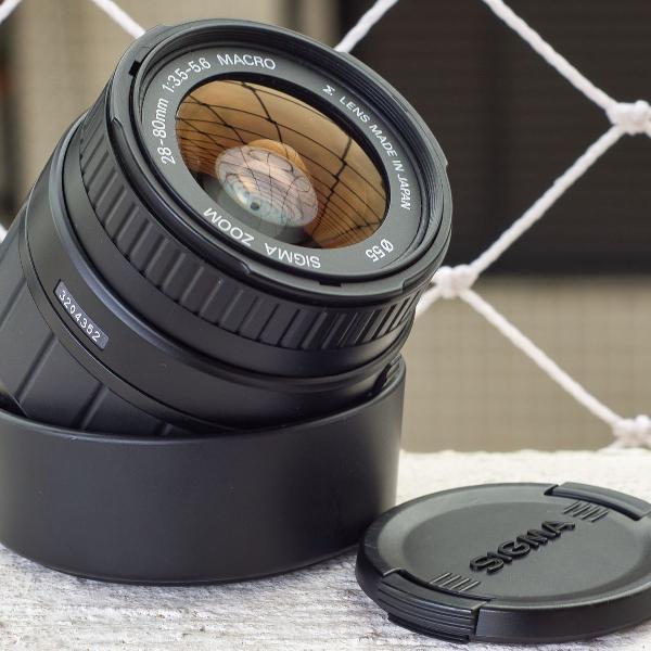 Lente sigma nikon 28-80mm f/3.5-5.6 autofoco macro