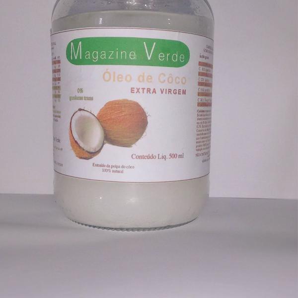 Oleo de coco vidro c/ 500ml - importado