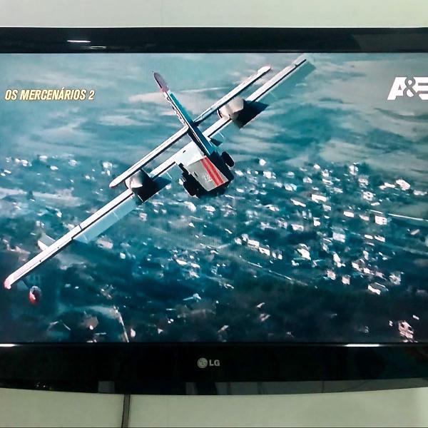 Tv lg lcd hd 42 polegadas (c/ controle e suporte)