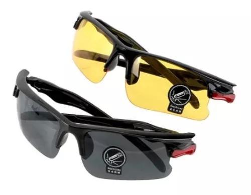 2 óculos preto e amarelo p dirigir dia/noite
