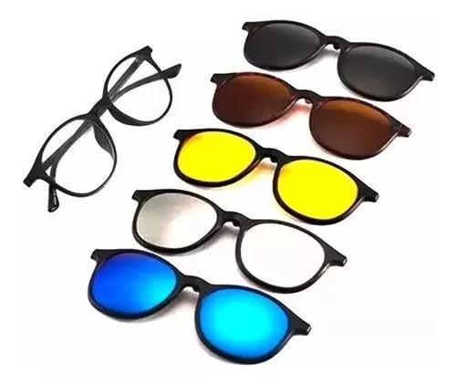 Armação de óculos grau clip on 6x1 polarizado ivista 2223