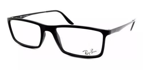 Armação masculina para óculos de grau ray-ban rb 7026l