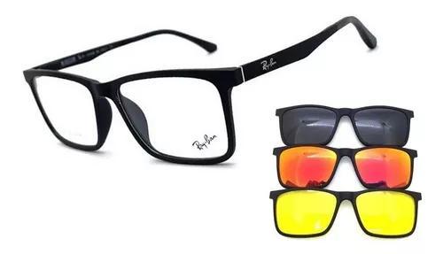Armação oculos de grau e solar masculino clip on original