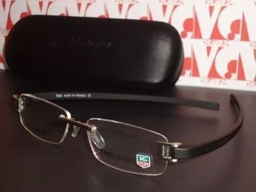 Armação Oculos De Grau Tag Heuer Th5069 Preta + Case