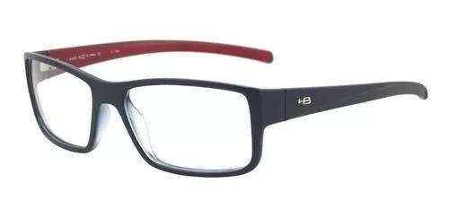 Armação oculos grau hb polytech 9301779433 azul vermel