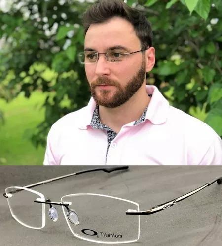 Armação oculos grau masculino original aluminium