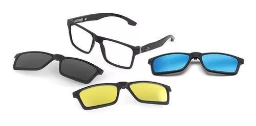 Armação oculos grau mormaii swap m6057a0256 clip on