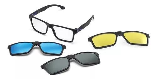 Armação oculos grau mormaii swap m6057a4156 com 3 clip on