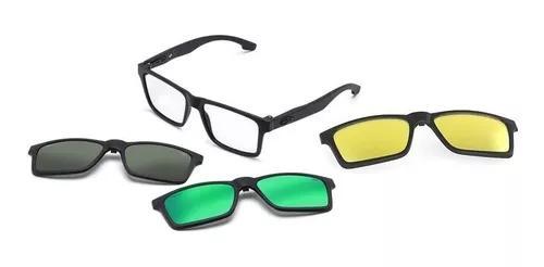 Armação oculos grau mormaii swap m6057ace56 clip on