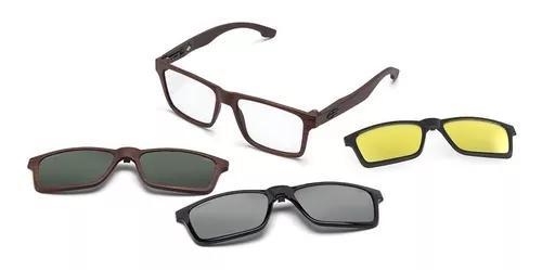 Armação oculos grau mormaii swap m6057j4756 clip on
