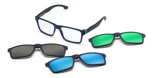 Armação oculos grau mormaii swap m6057k2656 clip on