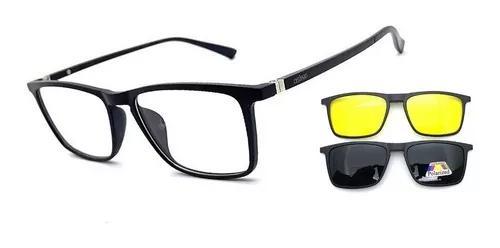 Armação oculos grau osônio clip on solar original pr
