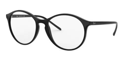 Armação oculos grau ray ban rb5371 2000 53 preto brilho