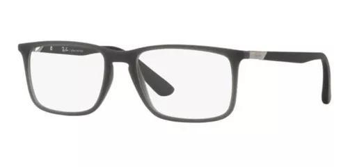 Armação oculos grau ray ban rb7158 5860 56 cinza fosco
