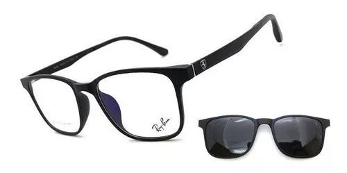 Armação oculos grau solar masculino top clip on original