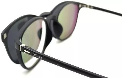 Armação oculos p/ grau sol osônio solar clip on original