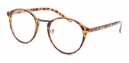 Armação óculos de grau acetato redondo masculino f