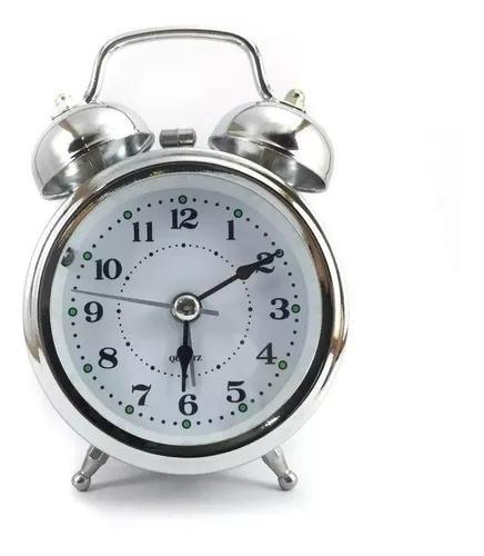 Relógio despertador com 2 sinos volume alto antigo a pilha