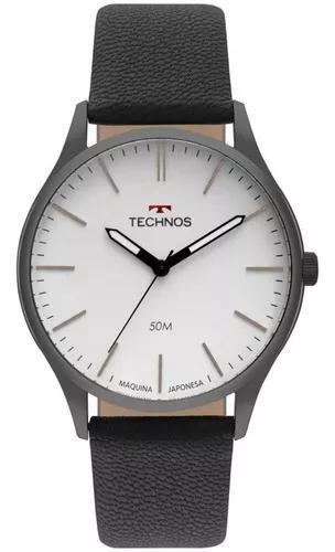 Relógio technos masculino analógico pulseira de couro
