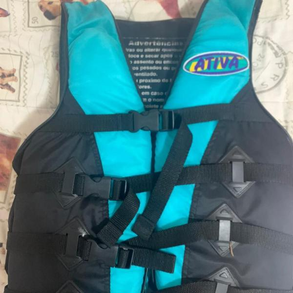 Colete salva-vidas esportivo - ativa - tam m- azul