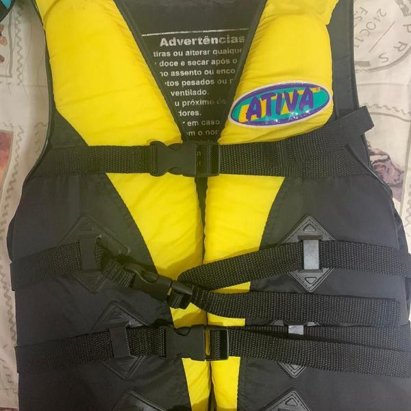 Colete salva-vidas esportivo - tam m- ativa - amarelo