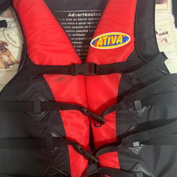 Colete salva-vidas esportivo - tamanho g- ativa - vermelho
