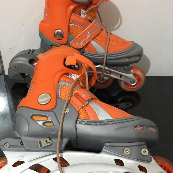 Par de patins laranja oxer feminino tamanho 36-39