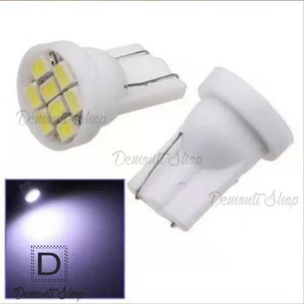Par lâmpada 8 leds t10 pingo super branca