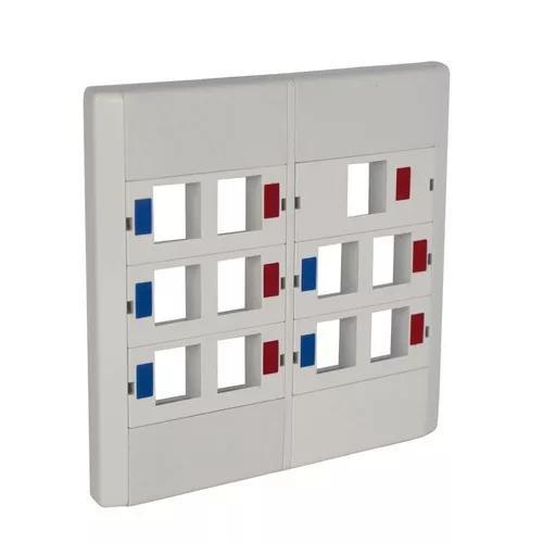 10 peças espelho plástico 4x4 c/ 11 saídas rj45 rj11