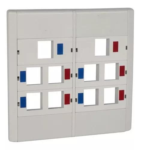 2 peças espelho modular 4x4 c/10 saída rj45 módulo