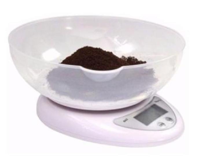 Balança digital 5kg com tigela a pilha cozinha 0.1 grama