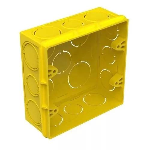 Caixa de luz 4x4 amarela tigre 80 peças