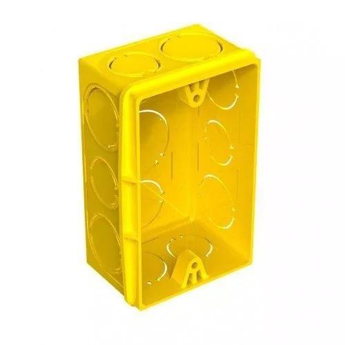 Caixa de luz amarela 4x2 tigre 100peças + 1 caixa 4x4 tigre