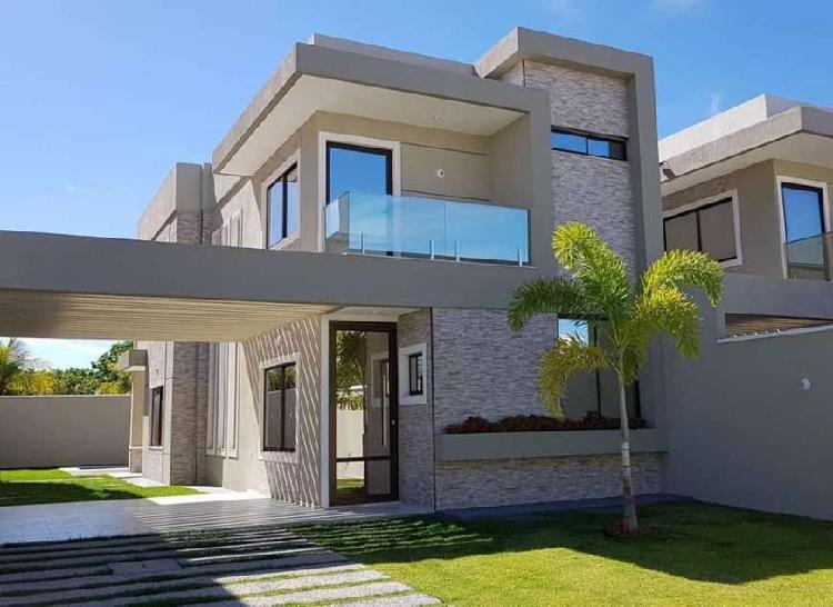 Casa duplex com área de 158m2 e 4 quatro suítes no melhor