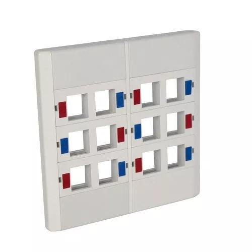 Espelho 4x4 c/12 saídas rj45 módulo r