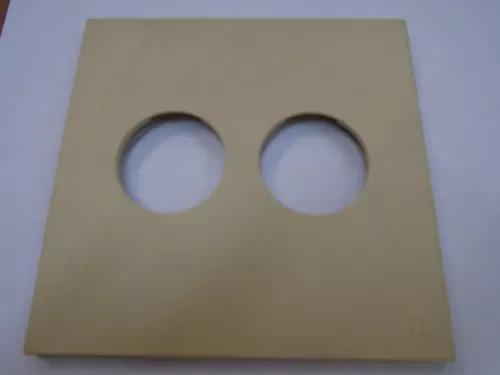 Espelho placa elite pl 4x4 - 2 posto redondo c/ 5 peças