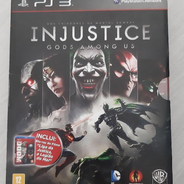 Injustice ps3 com blu-ray liga da justiça