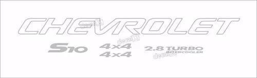 Kit adesivo chevrolet s10 4x4 2005 prata5 peças s10kit36